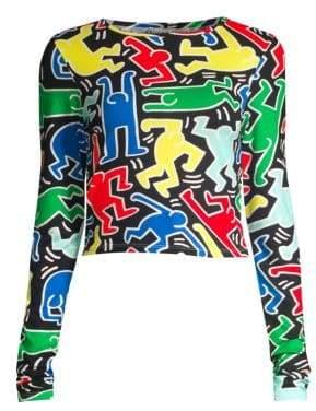 Alice + Olivia Keith Haring X Delaina Tee