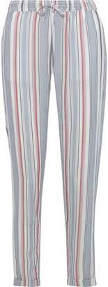 Onia Ella Striped Gauze Tapered Pants
