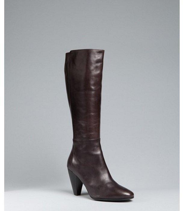 Alberto Fermani grey seamed leather tall boots