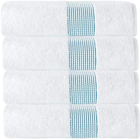 Turko Textile LLC Enchante Home Elegante 100% Turkish Cotton 4-piece Bath Towel Set