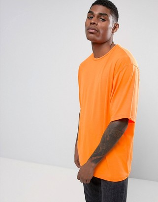 Granted Oversized T-Shirt In Neon Orange $48 thestylecure.com