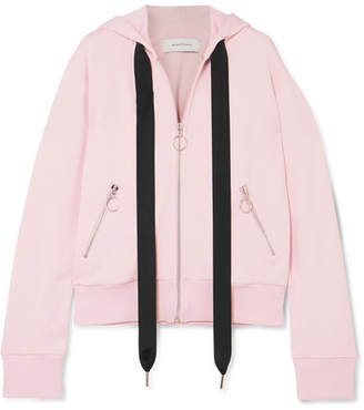 Marques Almeida Marques' Almeida - Oversized Cotton-blend Jersey Hooded Top - Baby pink