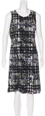 Burberry House-Check Silk-Blend Midi Dress