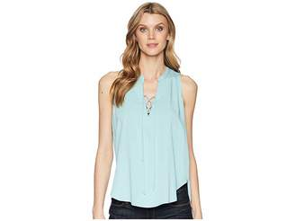 Stetson 1580 Rayon Crepe Laced Loose Tank Top Women's Clothing