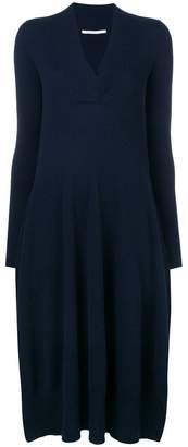 Agnona V-neck knitted dress