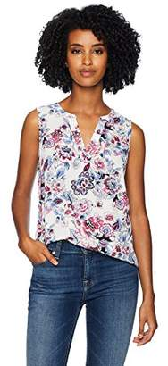 Adrianna Papell Women's Printed Sleeveless Blouse