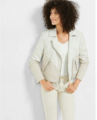 Express (Minus the) leather and canvas moto jacket $128 thestylecure.com