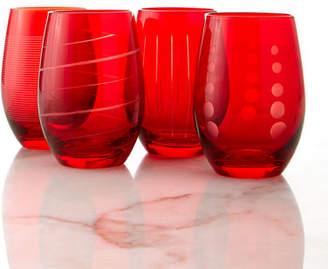 Mikasa Cheers Stemless Wine Glasses, 4-Piece Set