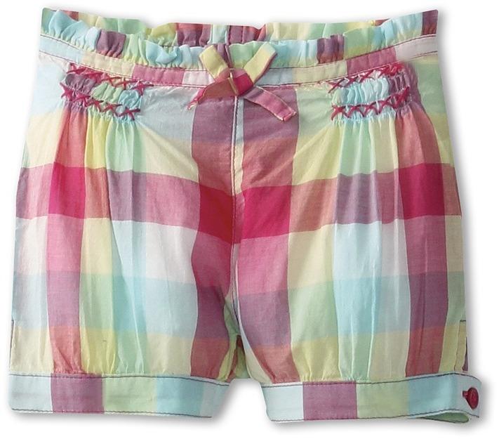 Benetton Kids - Girls' Gingham Shorts (Infant) (Fuchsia/Lime/Teal/White) - Apparel
