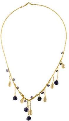 Farah Tanya 14K Multistone Dangling Necklace