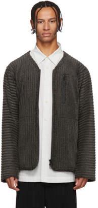 Issey Miyake Homme Plisse Grey Fleece Pleats Jacket