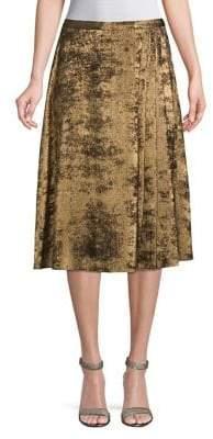 Halston H Pleated Midi Skirt