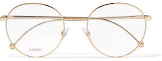 Fendi Round-frame Gold-tone Optical Glasses