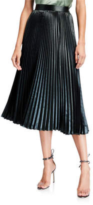 Elie Tahari Sue Pleated A-Line Midi Skirt