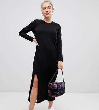 Asos DESIGN Petite casual tshirt maxi dress with long sleeve