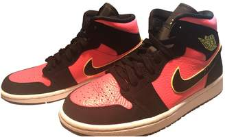 Jordan Air 1 Pink Leather Trainers