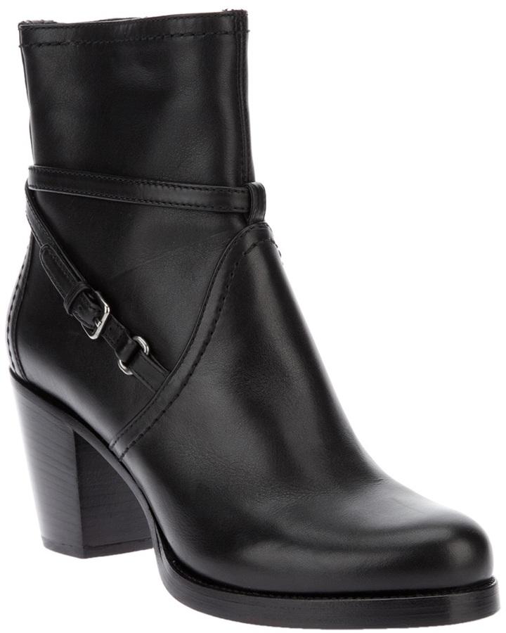 Car Shoe Chunky Heel Boots