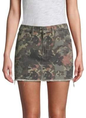 Hudson Jeans Viper Mini Camo Skirt