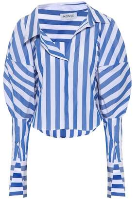 Monse Striped balloon sleeve blouse