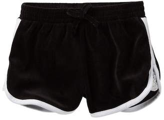Juicy Couture Black Lace Inset Velour Shorts (Little Girls)