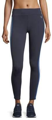 Tory Sport Multicolor Mid-Rise Side-Stripe Performance Leggings