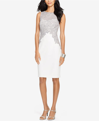 Lauren Ralph Lauren Lace Crepe Dress $194 thestylecure.com
