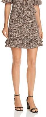 Aqua Flounce-Hem Leopard Print Skirt - 100% Exclusive