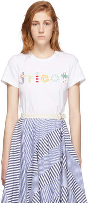 Comme des Garcons White Embroidery Logo T-Shirt