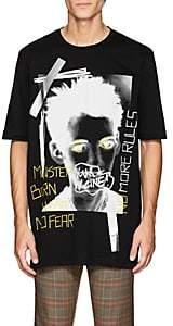 Faith Connexion Men's Punk-Print Cotton T-Shirt - Black
