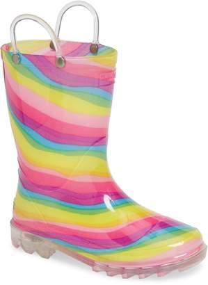 Western Chief Rainbow Light-Up Waterproof Rain Boot