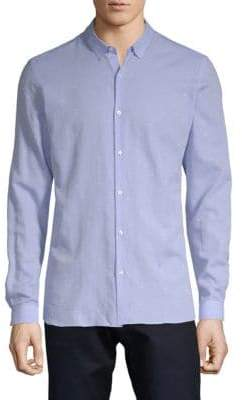 The Kooples Embroidered Cotton Button-Down Shirt