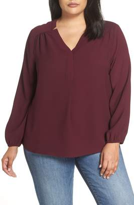 Gibson Split Neck Blouse