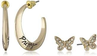"""Kensie Duo Butterfly with """"Pretty"""" Hoop Earrings"""