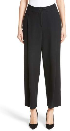 Women's Armani Collezioni Stretch Wool Wide Leg Pants