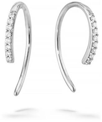 Lana Hooked On Diamond Hoop Earrings