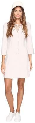 Kensie Rib Lace-Up Dress KS2U7007 Women's Dress