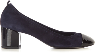 LANVIN Capped-toe suede pumps $515 thestylecure.com