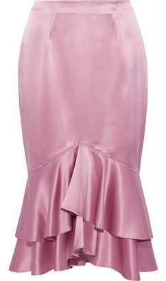 Cinq à Sept Anissa Ruffled Silk-Satin Skirt