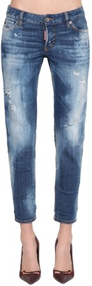 DSQUARED2 Jennifer Cropped Cotton Denim Jeans