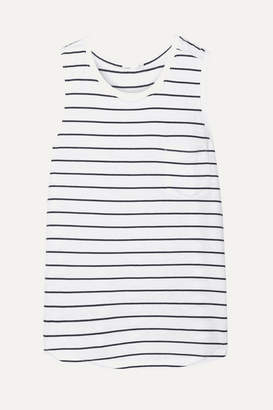 Skin - Abby Striped Pima Cotton And Modal-blend Jersey Tank - White