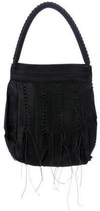 Issey Miyake Lace-Up Woven Handle Bag