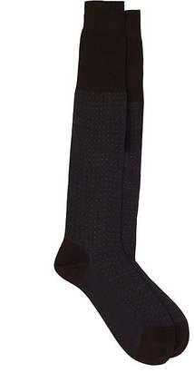 Barneys New York Men's Birdseye-Knit Mid-Calf Socks $50 thestylecure.com