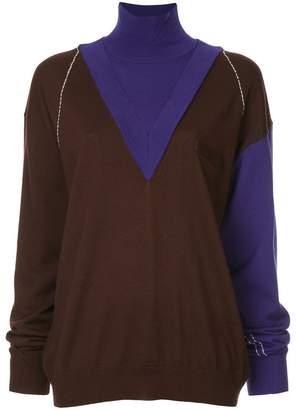 Irene layered v-neck jumper