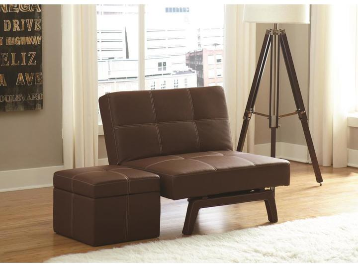 DHP Delaney Brown Accent Ottoman