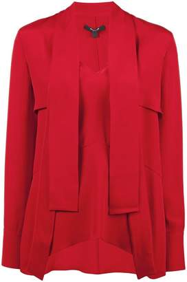 Derek Lam Long Sleeve Blouse with Tie Overlay