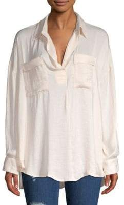 Free People Starry Dreams Oversized Blouse
