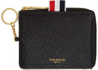 Thom Browne Black Zip Around Wallet