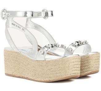 Prada Embellished espadrille sandals