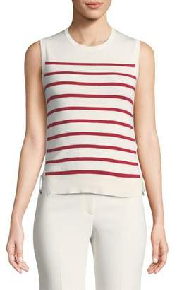 Loro Piana Sleeveless Striped Tank w/ Drawstring Sides