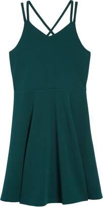 Zunie Strappy Fit & Flare Dress